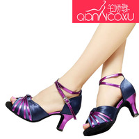 Women Shoes Qian Jiao Latin Dance Shoes Female Adult High heeled Friendship Square Dance Sandals Spring and Summer Children Hot