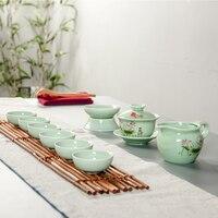 Ceramic Teacups Chinese Kung Fu Tea Cup Sets Chinese Tea Service Household Heat Resistance Tea Cups Porcelain set B016