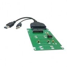 30pcs/ lots USB 3.0 to SATA 22pin 2.5″ Hard Disk & mSATA SSD to 7mm 2.5″ SATA 22pin hard disk HDD case Enclosure White, By Fedex