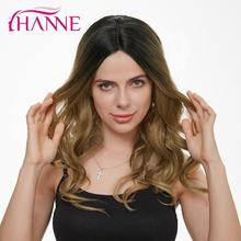 HANNE Lace Front Long Wavy Synthetic Wigs For Woman 1B/30BT27 Middle Pa