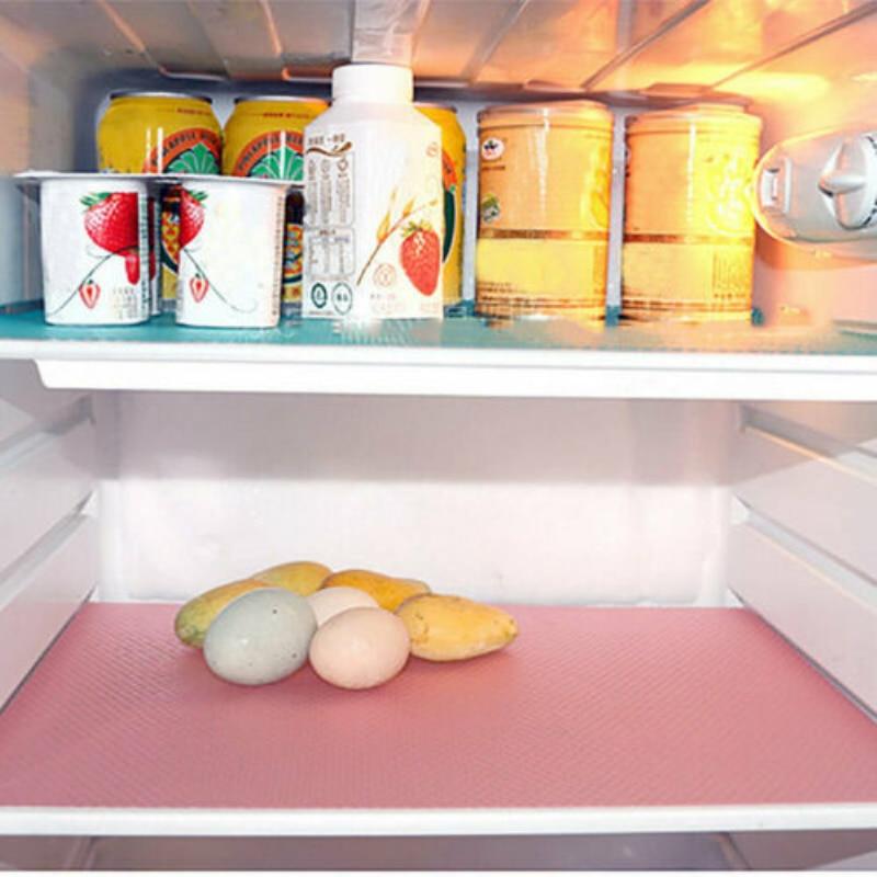 1PC Refrigerator Pad Antibacterial Antifouling Mildew Moisture Tailorable Pad Refrigerator Mats Fridge Waterproof