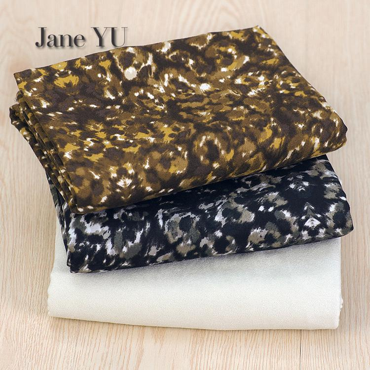 Tireless Janeyu Leopard Suede Imitation Deerskin Fabric Diy Handmade Fashion Clothing Pillow Cushion Turning Fur Material Diy Fabric A Complete Range Of Specifications Home & Garden
