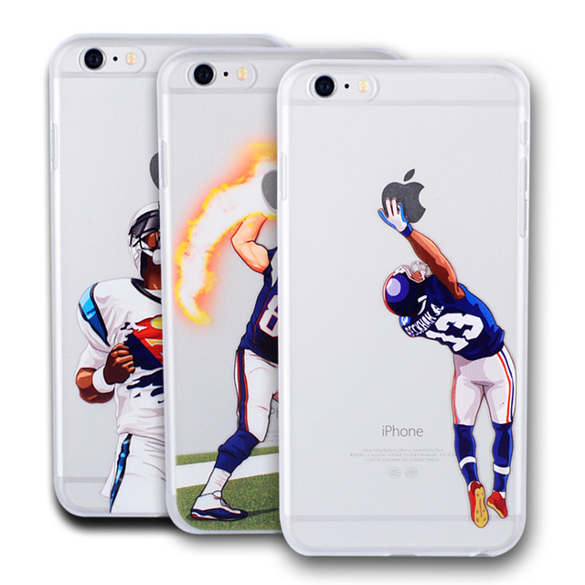 half off 09124 ac687 US $2.98 |American Football Player Star Phone Case for iphone 5 5s se 6 6s  7 7 8plus Odell Beckham Jr. Cam Newton Rob Hard NFL Phone Cover-in Fitted  ...
