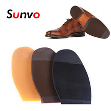 Sunvo Anti Slip Outsoles Rubber Shoe Sole for Leather Business Shoes Repair Forefoot Pads Stick-up Soles Bottoms Grip Outsole(China)