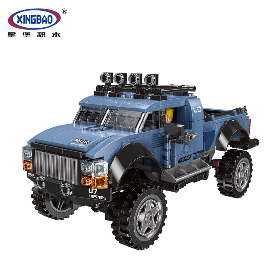 XINGBAO 03032 TECHNIC Car Series Assembly Car Toys The Off Road Pick up Car Set Building Blocks Bricks Compatible Legoings Car in Blocks from Toys Hobbies