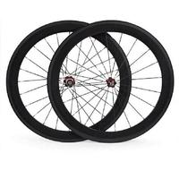 60mm 700C Clincher Rim Bike Wheelset Set Glossy Matte Carbon Wheelset Road Bike Wheelsets With Alloy