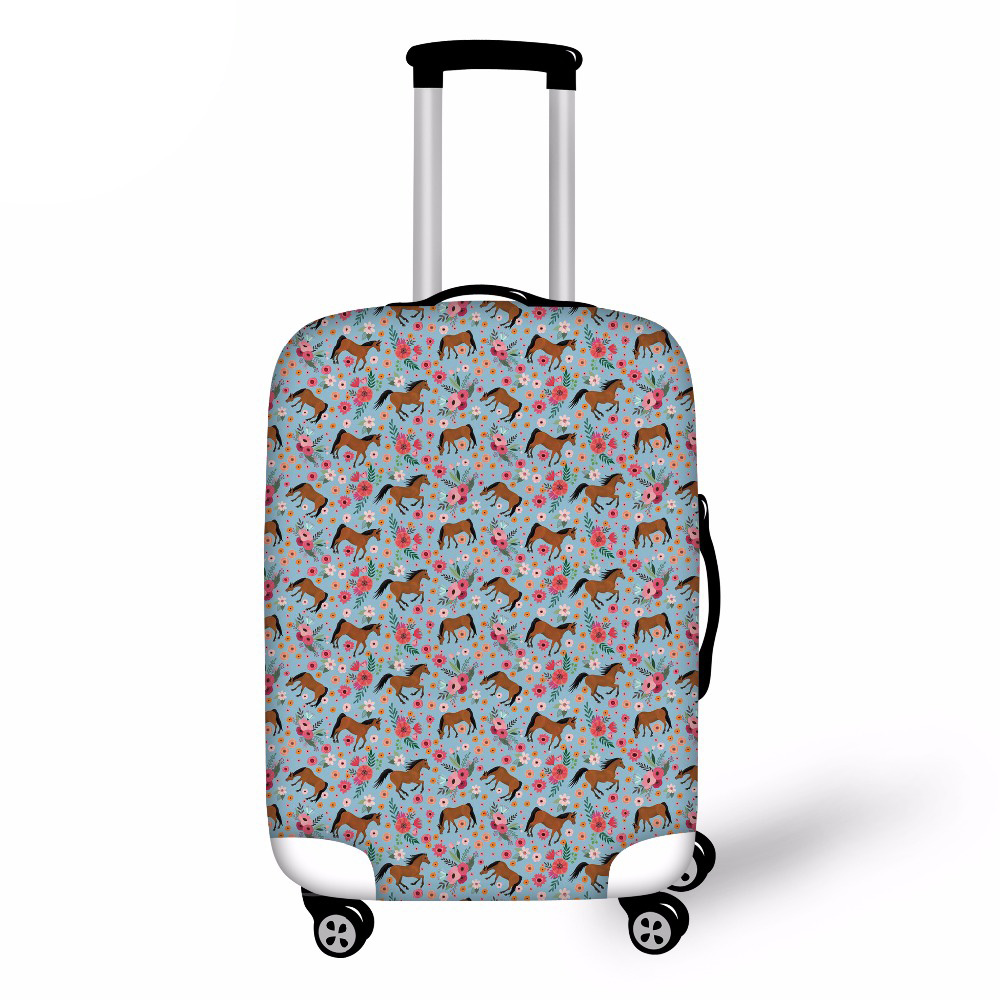 Horse Elastic Thick Luggage Cover for Trunk Case Apply to 18-30 Suitcase,Suitcase Protective Cover Travel Accessor
