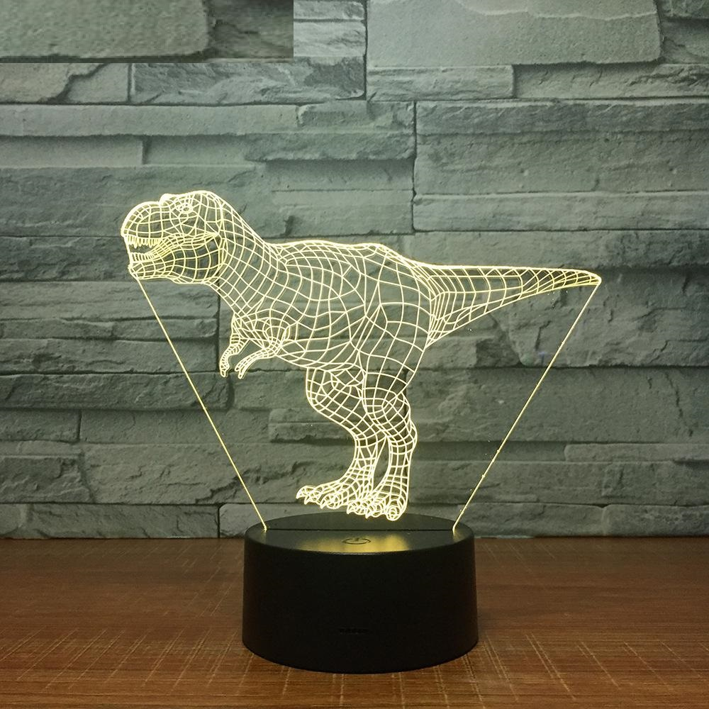 Tyrannosaurus Rex 3D Led Lamp 7 Color Night Lamps for Kids Touch Led USB Table Lampara Lampe Baby Sleeping Nightlight Drop Ship