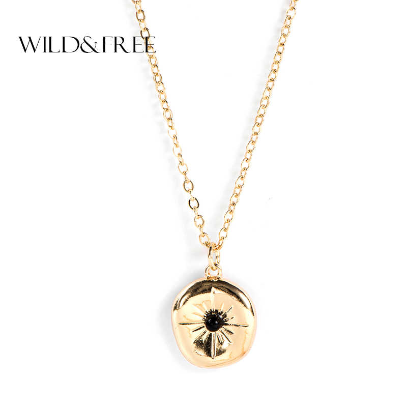 Wild & משלוח נשים תליון שרשרת זהב צבע סדיר גיאומטרי שרשרת & Pendients תכשיטים צווארון שרשראות מתנה