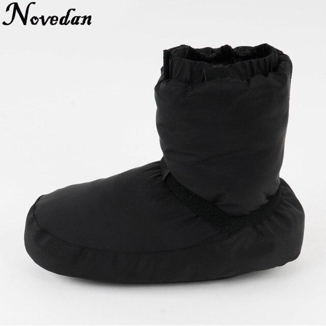 Nuevas botas cálidas de Ballet para mujer, color negro, Morado, gris, Castillo Flo, para danza, tallas 37-43