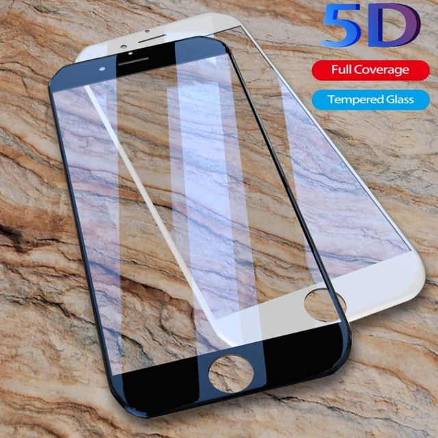 huge selection of 59211 ee305 US $2.79 30% OFF|5D Tempered Glass For Iphone 6 6S 7 8 Plus 5 SE 5S On The  Film 9H HD Screen Protector Clear 5D Full Cover Curved For iphone 6-in ...