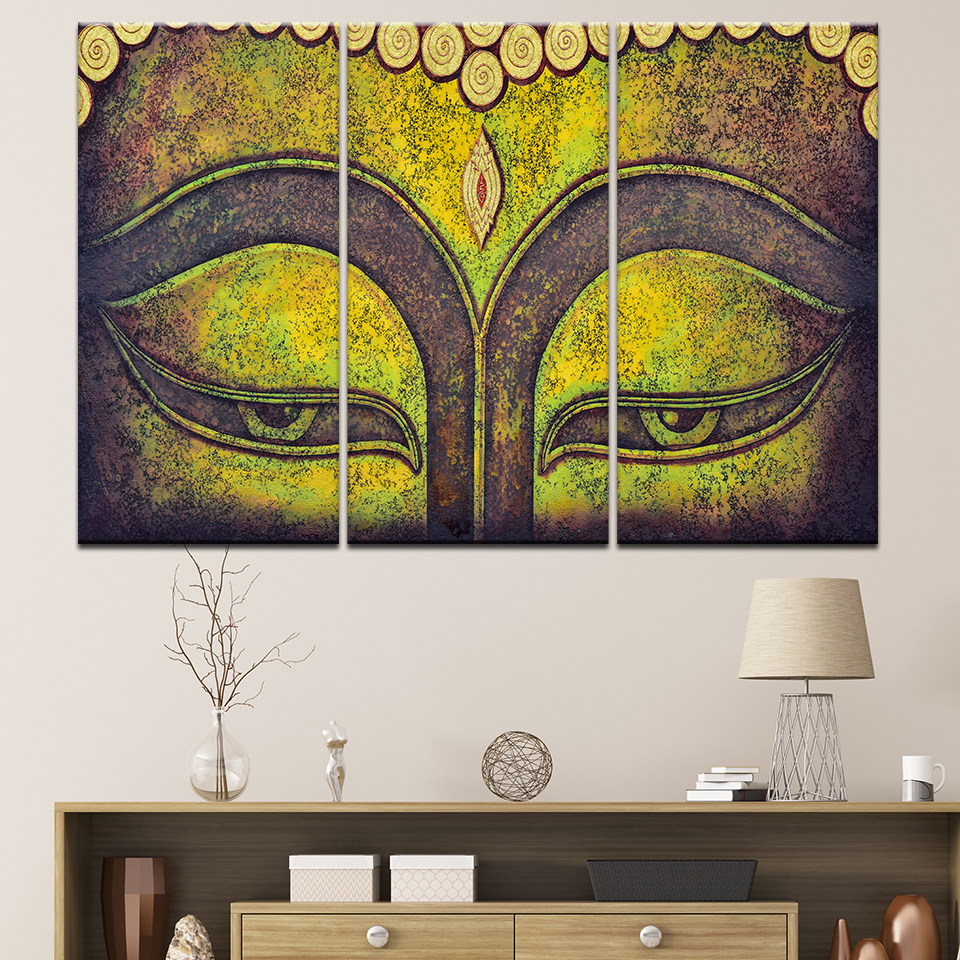 Modern Canvas Printed Poster Frame Home Wall Art Buddha