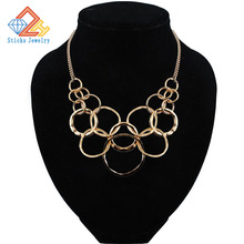 Hot alloy plated white gold ring connected necklace k colors optional, free shipping