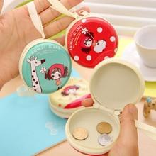 35PCS / LOT Cartoon Round Zipper  Mini Coin Purse Girls Case Wallet Kids Purses Gifts Earphone Bag