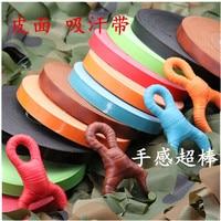 Leather badminton racket tennis grips closer spring slip resistant sweat absorbing bands 25 meters 6 colors