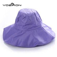 ceb2a3e7df Nuevos hombres mujeres multifunción sólido verano sol sombrero sombrilla  impermeable plegable sombrero de sol ala ancha pesca go.