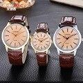 Casal Relógios De Pulso Dos Homens Das Mulheres Relógios com Pulseira de Couro Para Os Amantes Da Menina Moda Casual Senhoras relógio de Quartzo Marca de Luxo Relogios Femininos