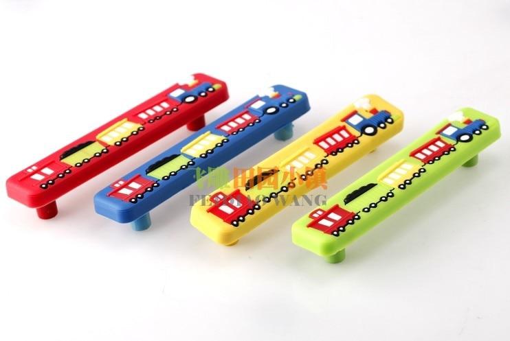Safe small train kids children room drawer pulls knobs for Children s bureau knobs