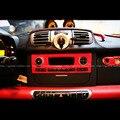 PARA Benz Smart Fortwo Interiores Do Carro De Fibra De Carbono Modificado Remendo Remendos No Painel de Controle de 3 PEÇAS 1 Conjuntos Adesivos de carro