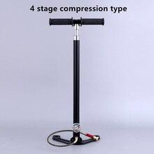 Складной четырехступенчатый компрессионный насос высокого давления бустер с масляным охлаждением ручной воздушный насос 4 этап с segregator