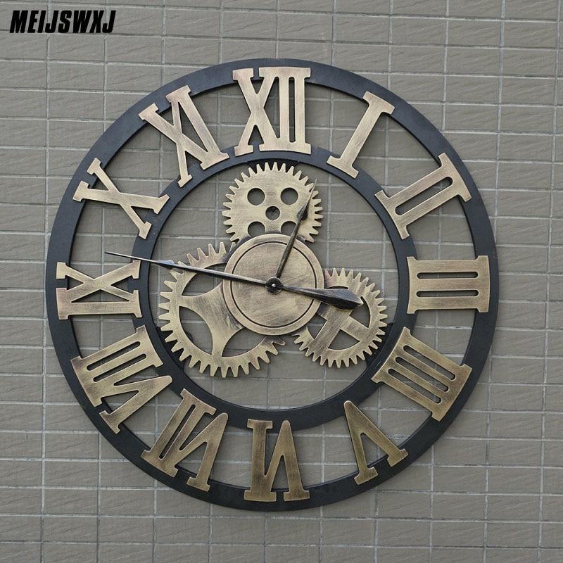 80 см большие настенные часы Saat 3d Шестерня часы деревянные обои Saati настенные часы Reloj Pared Relogio de Parede Horloge Murale домашний декор