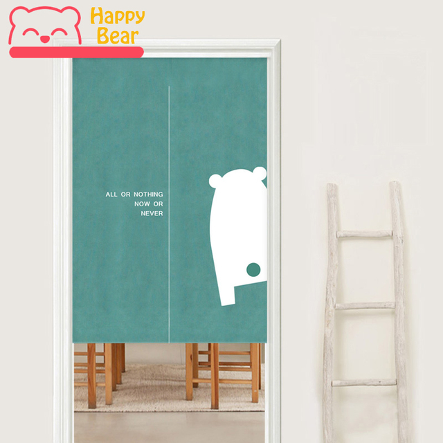 Hy Bear Modern Door Curtain Bathroom Cloth Curtains For Home Decoration Hanging With Extendable Stick 85x120cm