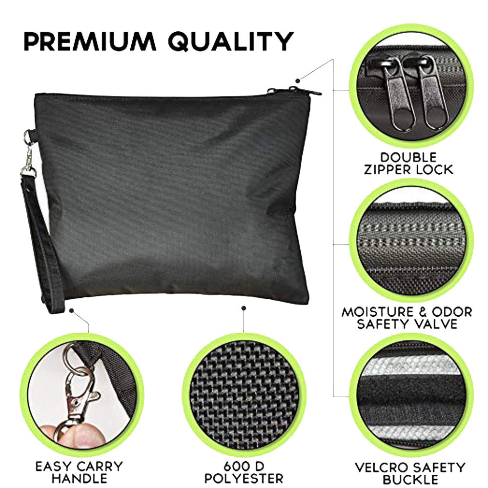 18x15 5cm Odor Proof Bag Food Polyester Multi Functional Fabric Zipper Organizer Storage Herbs in Storage Bags from Home Garden