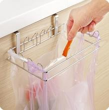 Stainless Steel Garbage Bags Storage Rack Fitted Mount Trash Rack Plastic Bags Rack