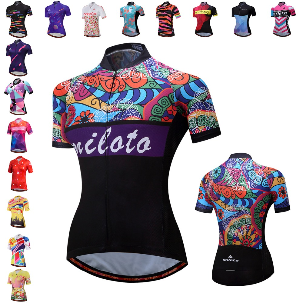 7f2249f0c 2018 Women Cycling Jersey Bike Top Shirt Summer Short Sleeve MTB Cycling  Clothing Ropa Maillot Ciclismo