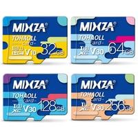 MIXZA Carte Mémoire 256 gb 128 gb 64 gb U3 80 mb/s 32 gb Micro sd carte Class10 UHS-1 flash carte Mémoire Microsd TF/SD Cartes pour Tablet