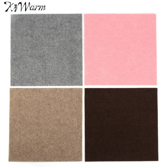 Kiwarm 30 30cm Self Adhesive Carpet Tiles Commercial Grade Heavy Duty Flooring Office Cover Floor