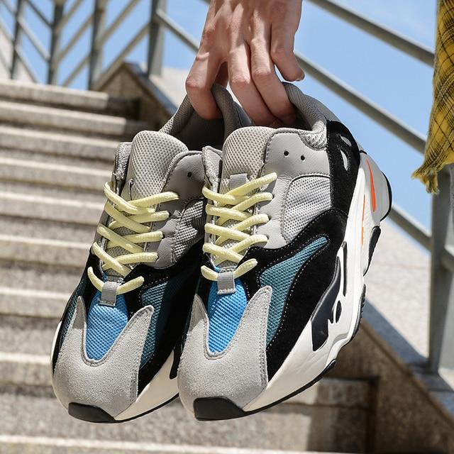 2018 Hot Sale New Original Men Sneakers Yeezys Air 350 boost V2 Women  Running Sport Shoes yeezys 700 boost 350 Wave Runner fe2f99d319