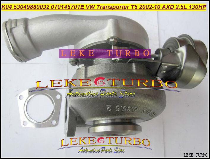 K04 VTG 53049700032 53049880032 070145701E Turbo Turbocharger For Volkswagen VW Commercial Transporter T5 TDI 2002-2012 AXD 2.5L