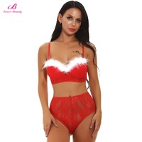 Lover Beauty Christmas Erotic Lingerie for Women Red Sexy Babydoll Dress Underwear Sexy Mujer