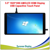 5.5 inch 1920*1080 AMOLED OLED HDMI LCD Module Screen Display Minitor with USB Capacitive Touch Panel for Raspberry Pi/Windows