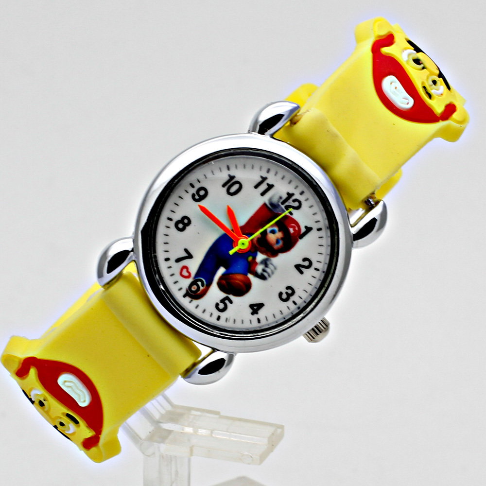 Cute Kids Children's Watch Casual Jelly Strap Girl Boy Sports Quartz Clock Fashion 3D Cartoon Student Watch Relogio Femininos