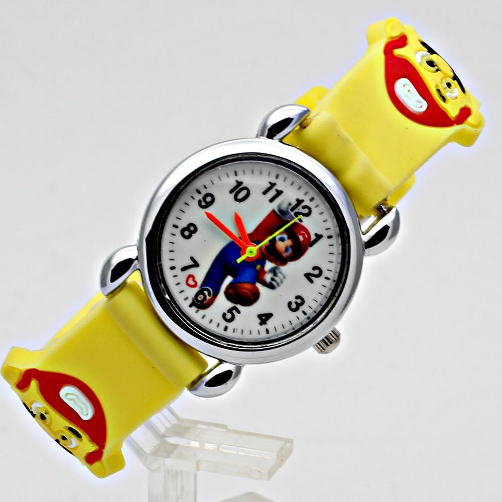 Cute Kids Children's Watch Casual Jelly Strap Girl Boy Sports Quartz Clock Fashion 3D Cartoon Student Watch Relogio Femininos