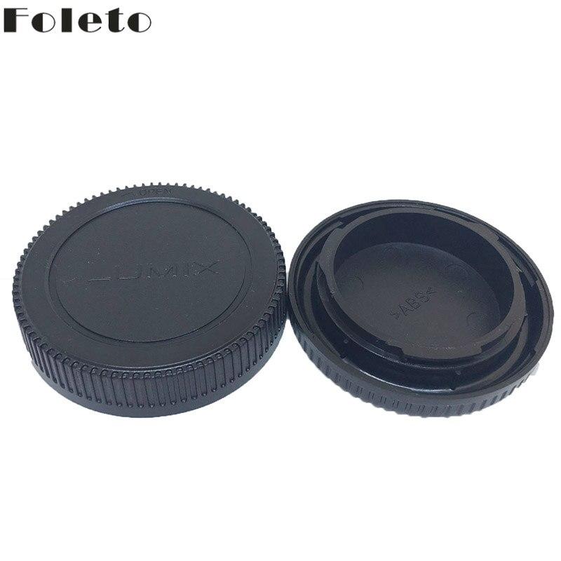 Foleto Rear cap + Lens Cap camera Lens Protector for Micro 4/3 M4/3 Olympus PEN E-P1 PL3 Panasonic LUMIX DMC-GF1 GF2 GH1 G10 G3