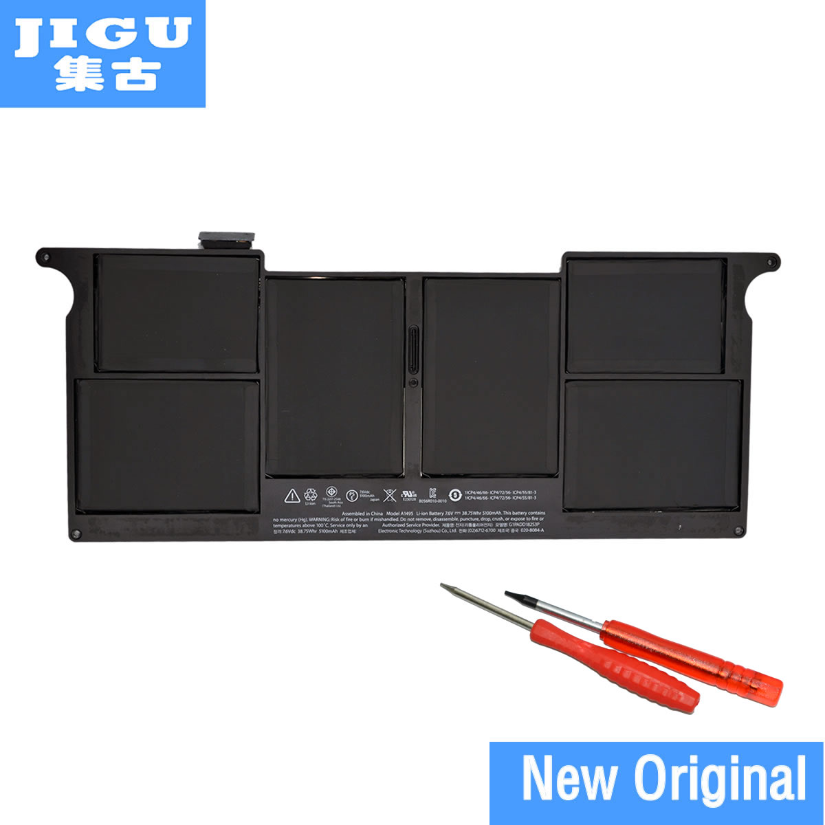 JIGU A1406 новый ноутбук Батарея для Apple MacBook Air 11 A1465 2012 A1370 2011 производства A1495 оригинальный Батарея