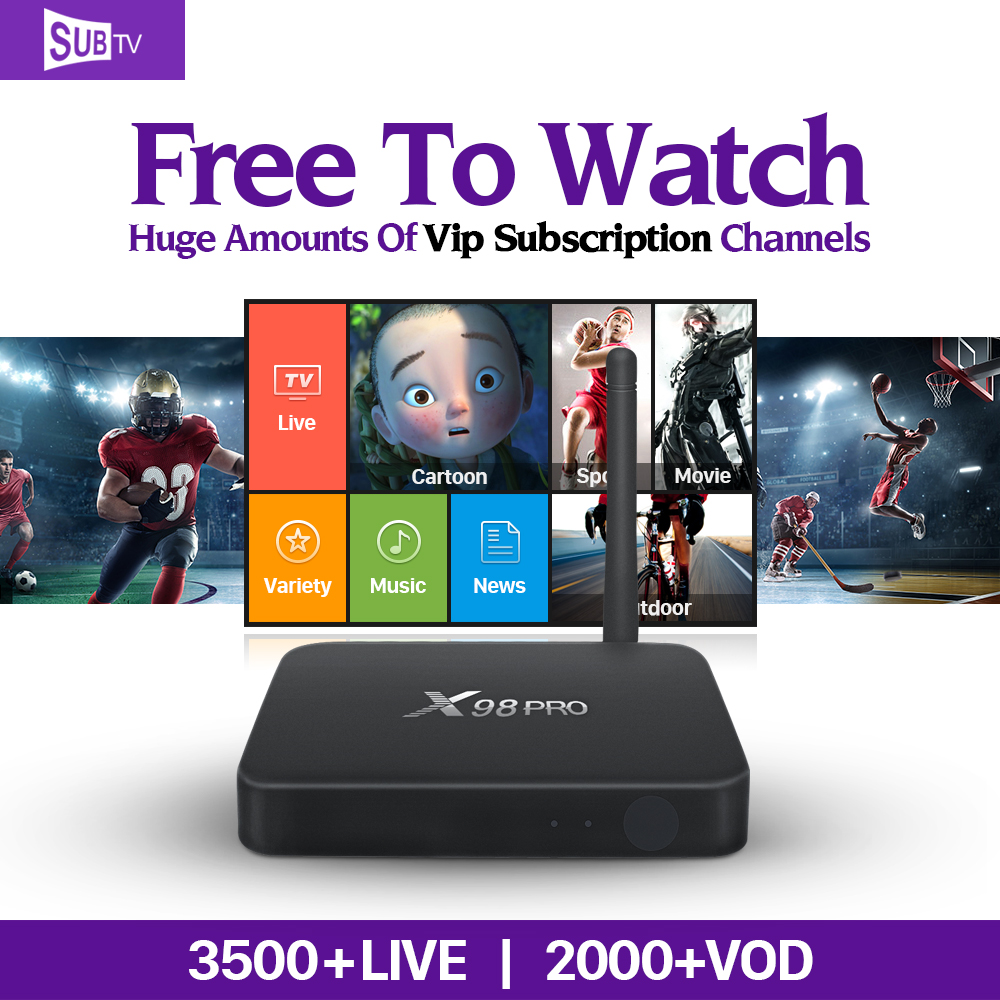 X98 Pro Android TV Box with IPTV 1 Year Subscription QHDTV IUDTV Subtv Code Abonnement Europe Arabic French Turkey Spain IPTV smart iptv box quad core android tv box 1g 8g with arabic iptv europe iptv subscription 1 year qhdtv iudtv account media player