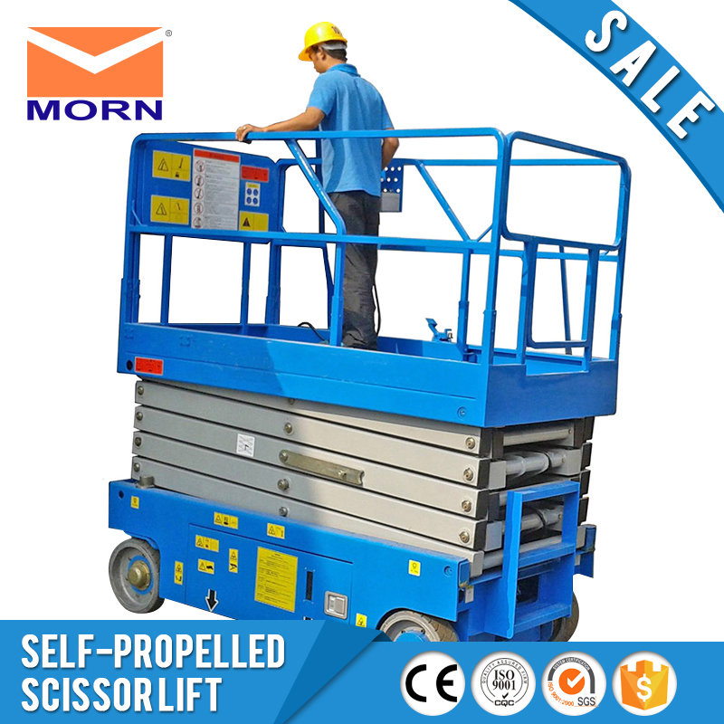 Electric scissor lift self propelled moving hydraulic