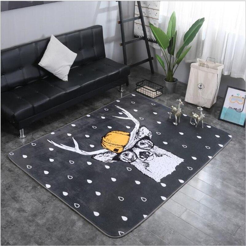 AOVOLL tapis de mode de bande dessinée pour salon chambre tapis pour la décoration de la maison tapis de sol tapis de chambre d'enfant pour bébé jouant