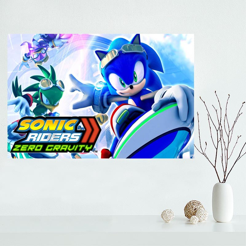 Nice Sonic The Hedgehog Poster Custom Canvas Poster Art Home Decoration  Cloth Fabric Wall Poster Print