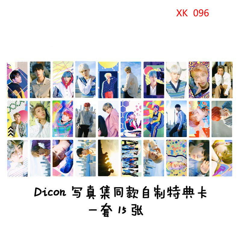 Dicon Photo 15 Pieces Of Each Homemade Signature Card MINI-Card