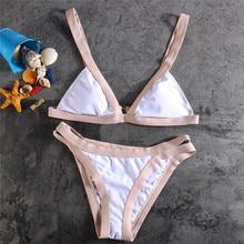 Triangle Swimming Suit New Summer Sexy White Bandage Bikini Sets