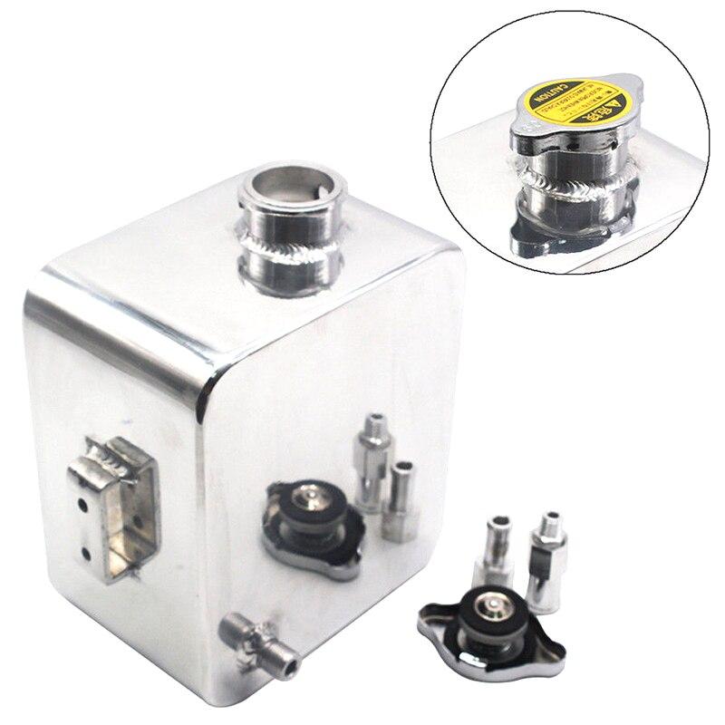 2.5L réservoir d'eau d'expansion de voiture en aluminium réservoir de refroidissement trop-plein + Kit de bouchon