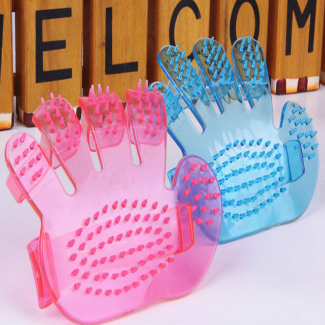 !New Fashion Pet Dogs Comb Comb Massage Bath Glove Pet Bath Brush Pet Products Wash Head Scalp Massage Brush