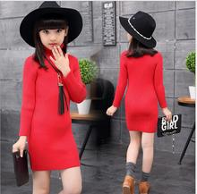 New 2017 Autumn Winter Fashion All-match Turtlence Cotton Girl Clothes Bottoming  Long Sleeve Knitted Appliques  Clothes S076