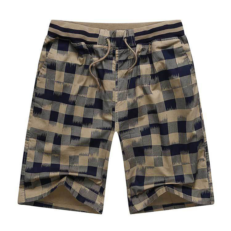 Shorts Classic-Design Brand Summer Men Beach Cotton Plus-Size Casual 4XL Hot Plaid High-Quality