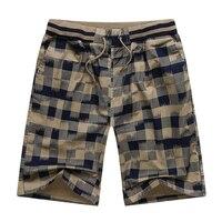 Hot 2016 Summer Men Plaid Shorts Classic Design Cotton Casual Surf Beach Short Pants Brand Famous